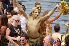Amsterdam Canal Parade 2014 Royalty Free Stock Photo