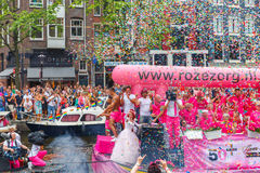 Amsterdam Canal Parade 2014 Royalty Free Stock Photography