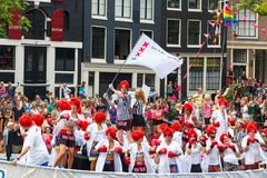 Amsterdam Canal Parade 2014 Royalty Free Stock Photo