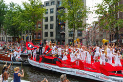 Amsterdam Canal Parade 2014 Royalty Free Stock Image