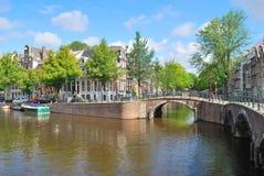 Amsterdam.  Canal  Regulirsgraht Stock Image