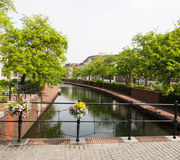 Amsterdam canal scene Royalty Free Stock Photo