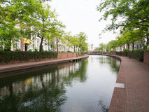 Amsterdam canal scene Royalty Free Stock Images