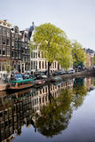 Amsterdam Canal in Spring Royalty Free Stock Images