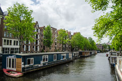 Amsterdam Canal. During the springtime royalty free stock photography