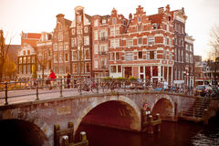 Amsterdam Canal Street view Royalty Free Stock Image