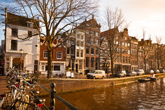 Amsterdam Canal Street view Royalty Free Stock Photo