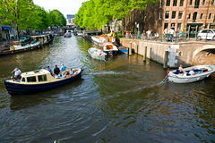 The Amsterdam canal system Stock Image
