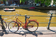 The Amsterdam canal system Stock Photography