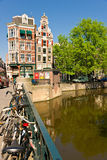 The Amsterdam canal system Royalty Free Stock Photography
