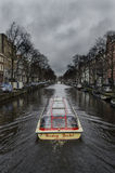 Amsterdam canal trip Stock Images