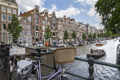 Amsterdam Canal with canal houses Royalty Free Stock Photo