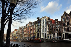 Amsterdam canal view Royalty Free Stock Photo