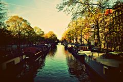 Amsterdam, canal view royalty free stock image