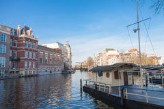 Amsterdam canal view Royalty Free Stock Image