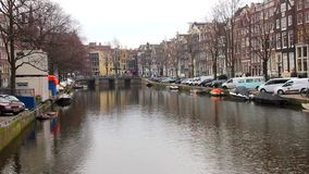 Amsterdam canal stock footage