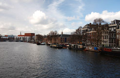 Amsterdam canal view,Netherlands Stock Photos