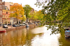 Amsterdam Canal. Amsterdam view taken from one of the many canals Royalty Free Stock Image