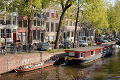 Amsterdam Canal Waterfront Stock Photography