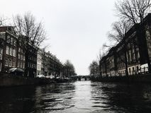 Amsterdam, canale Fotografia Stock Libera da Diritti