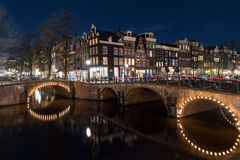 Amsterdam canals and architecture Stock Image