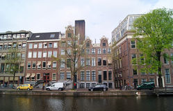 Amsterdam canals and buildings Stock Photography