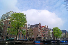 Amsterdam canals and buildings Stock Image