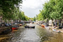 Amsterdam Canals in Holland Stock Images