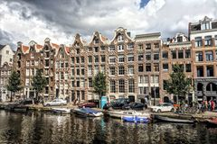 Amsterdam Canals in Holland Stock Photography
