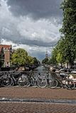 Amsterdam Canals in Holland Royalty Free Stock Photo