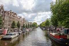 Amsterdam Canals in Holland Royalty Free Stock Photos