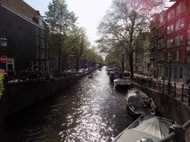 The Amsterdam canals stock photo