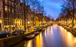 Amsterdam Canals Netherlands Stock Images