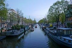 amsterdam canals night Στοκ Φωτογραφίες