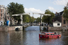 Amsterdam canals Stock Images