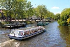 Amsterdam canals, street view, The Netherlands, Europe Stock Photo