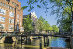 Amsterdam canals Royalty Free Stock Images
