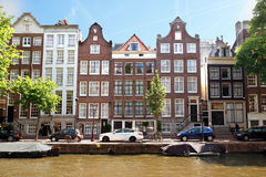 Amsterdam - Canals and typical dutch houses Royalty Free Stock Images