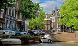 Amsterdam - Canals and typical dutch houses Stock Photo