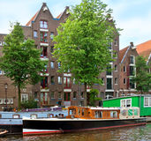 Amsterdam - Canals and typical dutch houses Royalty Free Stock Image