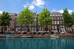 Amsterdam - Canals and typical dutch houses Stock Images