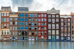Amsterdam canals and typical houses, Holland Royalty Free Stock Photography