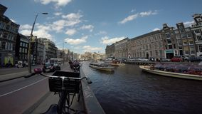 Amsterdam canals stock video