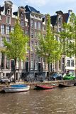 Amsterdam canals view Stock Photo