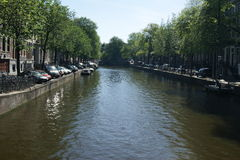 Amsterdam canals. View of the Amsterdam canals Stock Image