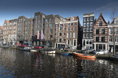 Amsterdam canalside building Royalty Free Stock Photos