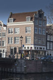 Amsterdam canalside building Stock Image