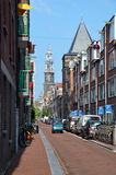 Amsterdam, the capital city of Holland Stock Photography