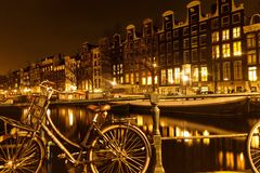 Amsterdam, capitol of bicycles Royalty Free Stock Images