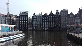 On an Amsterdam Canal royalty free stock image